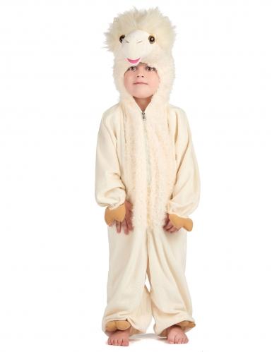 Beige lama kostuum voor kinderen