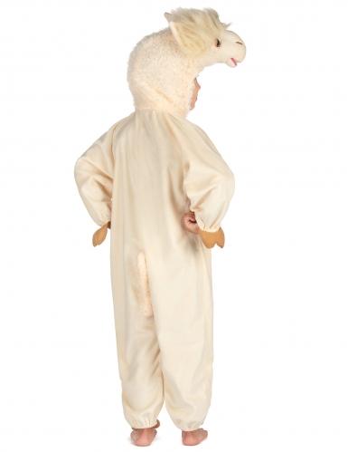 Beige lama kostuum voor kinderen-1