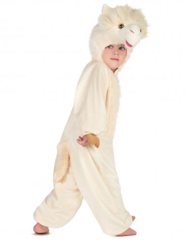 Beige lama kostuum voor kinderen-2