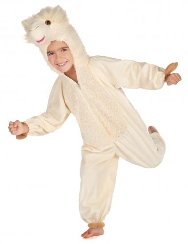 Beige lama kostuum voor kinderen-3