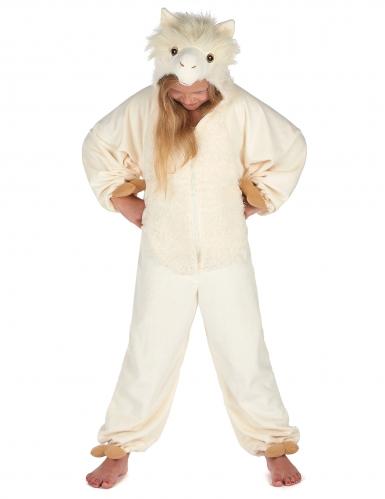 Beige lama kostuum voor kinderen-4