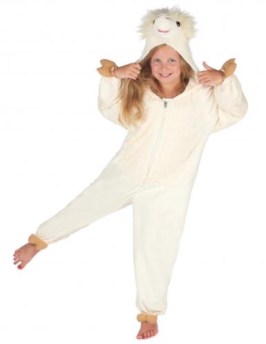 Beige lama kostuum voor kinderen-6