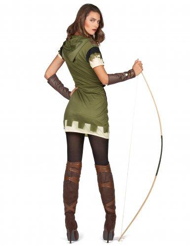 Groen met bruin boogschutter kostuum voor dames-2