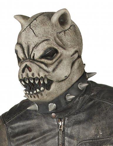 Latex woeste hond masker voor volwassenen-1