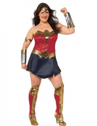 Deluxe Wonder Woman Justice League™ kostuum voor vrouwen - Plus Size