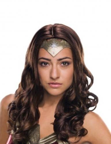 Deluxe Wonder Woman™ pruik voor volwassenen