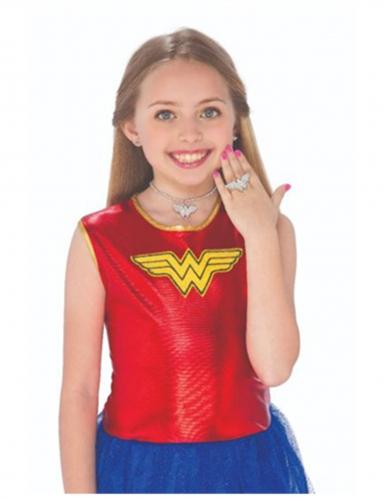 Wonder Woman™ oorbellen, ketting en ring