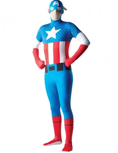 Origineel Captain America™ second skin kostuum voor volwassenen