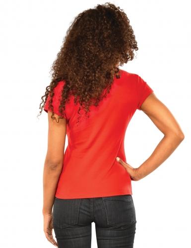 Spidergirl™ strass t-shirt en masker voor vrouwen-1
