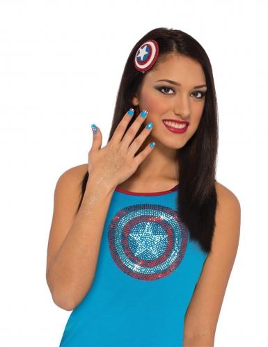 Captain America™ schmink set voor vrouwen