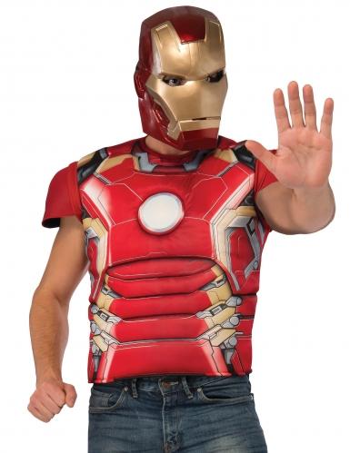Deluxe Iron Man™ borst met masker voor volwassenen