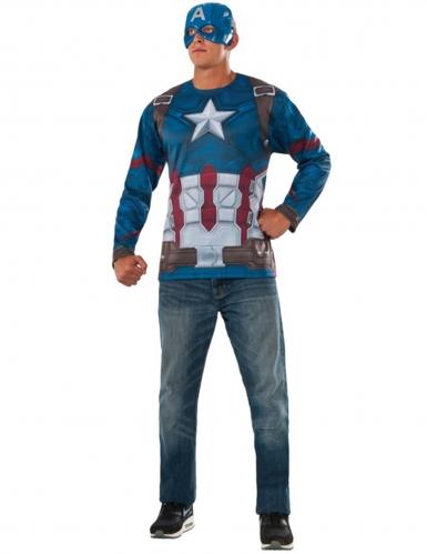 Captain America Civil War™ t-shirt met masker voor volwassenen