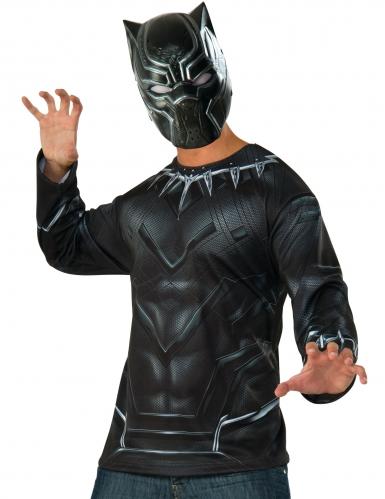 Black Panther Captain America Civil War™ t-shirt en masker voor volwassenen