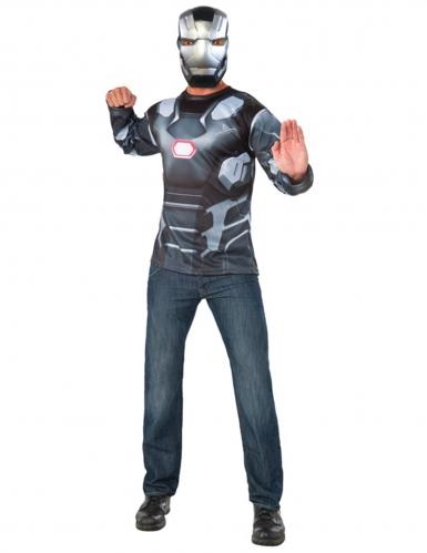 War Machine Captain America Civil War™ t-shirt en masker voor volwassenen