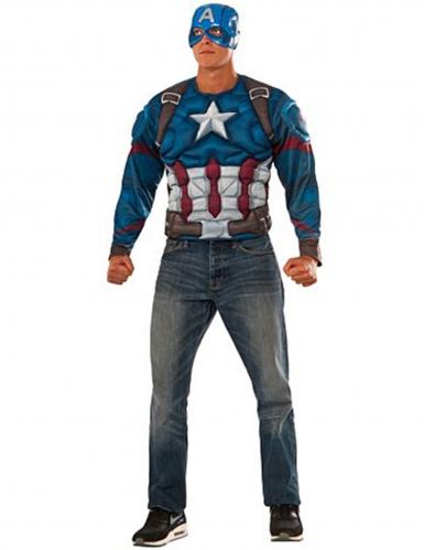 Captain America Civil War™ gespierd t-shirt met masker voor volwassenen