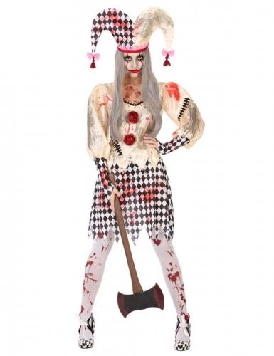 Bebloed harlekijn kostuum voor vrouwen