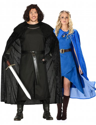 Middeleeuws fantasy koppelkostuum voor volwassenen