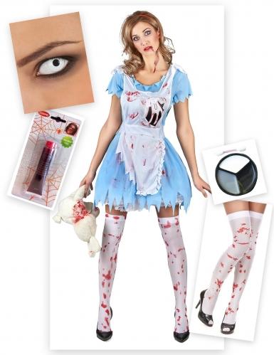 Zombie Alice kostuum voor vrouwen