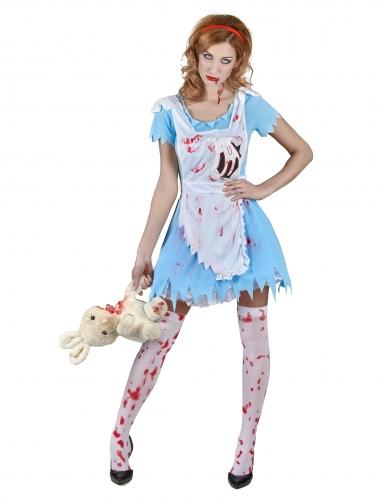Zombie Alice kostuum voor vrouwen-1