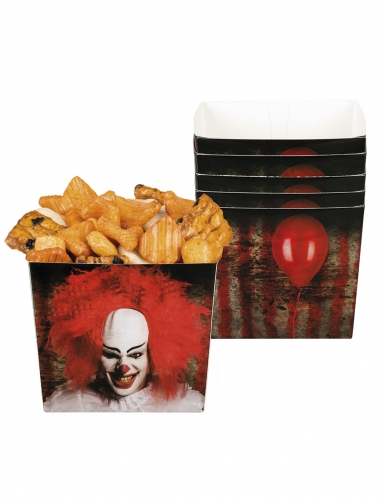 6 enge clown bakjes van karton