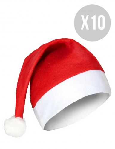 Pack met 10 kerstmutsen voor volwassenen