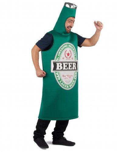 Groen bierfles kostuum voor volwassenen-1
