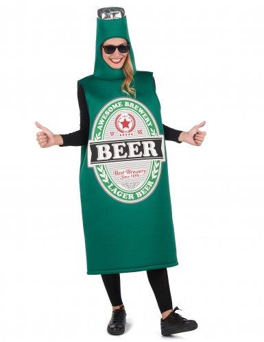 Groen bierfles kostuum voor volwassenen-3