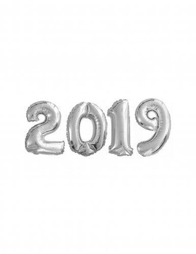 Zilverkleurige aluminium 2019 ballonnen