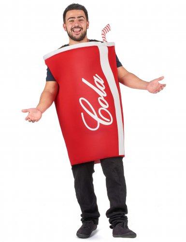 Cola beker kostuum voor volwassenen