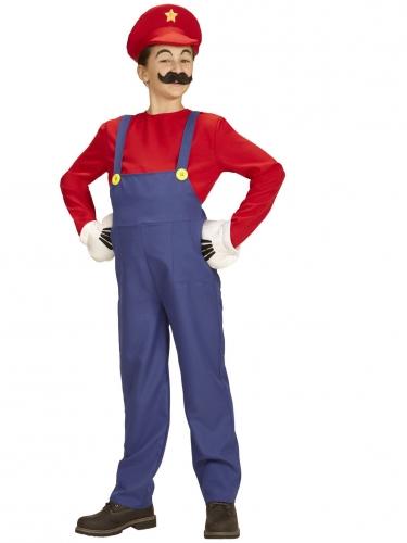 Klassieke rode loodgieter outfit voor kinderen-2