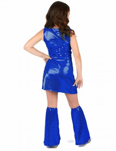 Donkerblauw lovertjes disco kostuum voor meisjes-2