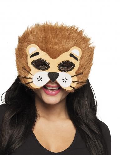 Leeuw half masker voor volwassenen