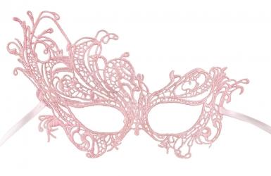 Sexy en elegant roze kant masker voor vrouwen-1