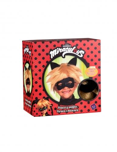 Cadeauverpakking Cat Noir™ pruik en masker voor kineren-1