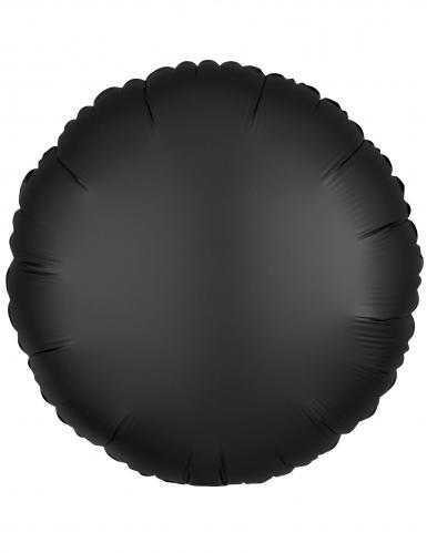 Zwarte satijnkleurige aluminium ballon