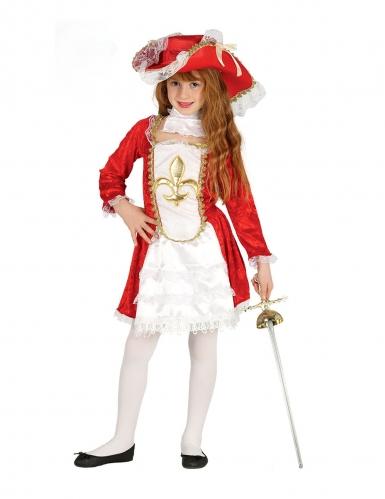 Klassiek rood musketier kostuum voor meisjes