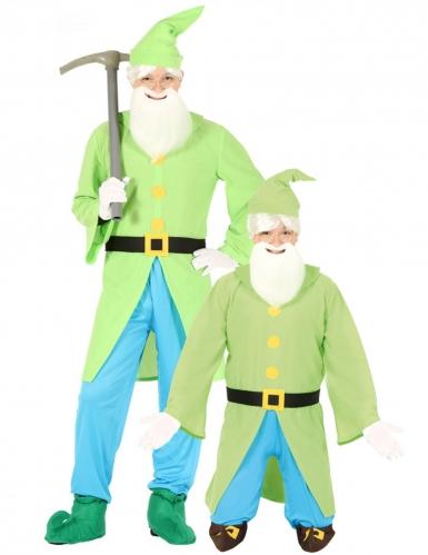 Groene en blauwe boskabouter outfit voor mannen