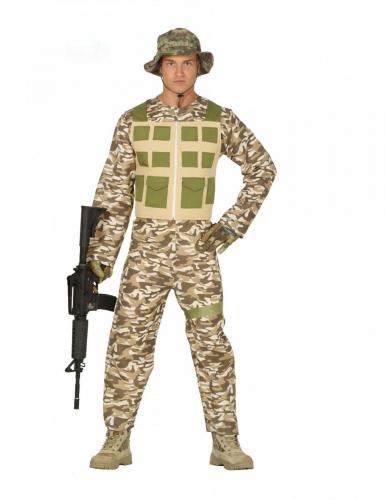 Camouflage woestijn soldaat kostuum voor mannen