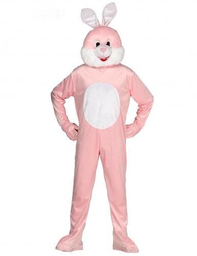 Roze konijn mascotte kostuum voor volwassenen