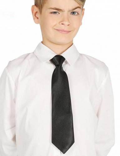 Zwarte stropdas voor kinderen 30 cm