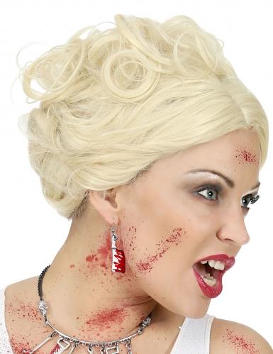 Bloederige hakmes oorbellen voor volwassenen-1