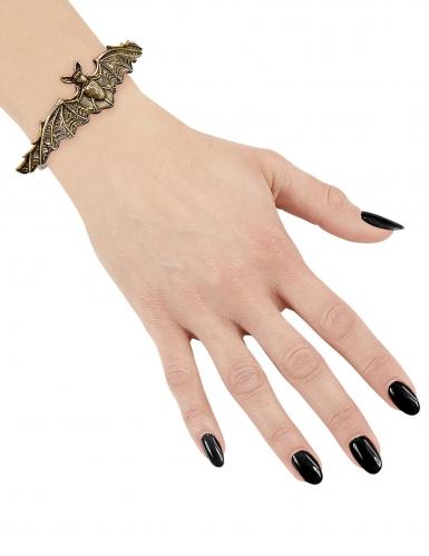 Goudkleurige vleermuis armband voor volwassenen-1