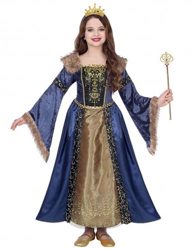 Middeleeuwse winter koningin outfit voor meisjes