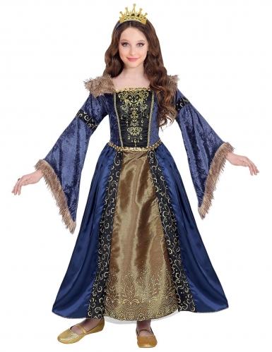 Middeleeuwse winter koningin outfit voor meisjes-1