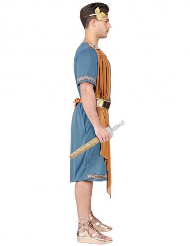 Blauw en oranje Romeinse keizer kostuum voor volwassenen-2