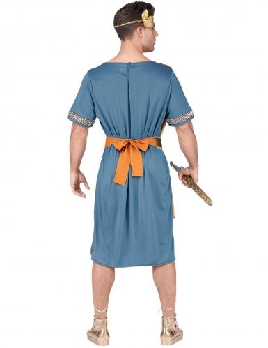 Blauw en oranje Romeinse keizer kostuum voor volwassenen-3