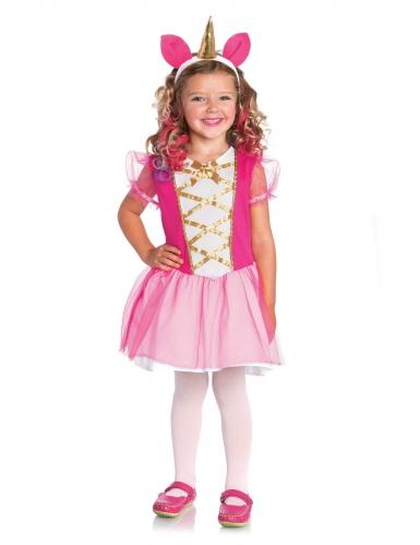 Roze magische eenhoorn kostuum voor meisjes