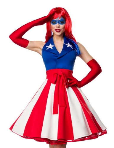 Sexy Miss America outfit voor dames