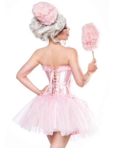 Roze suikerspin outfit voor vrouwen-1