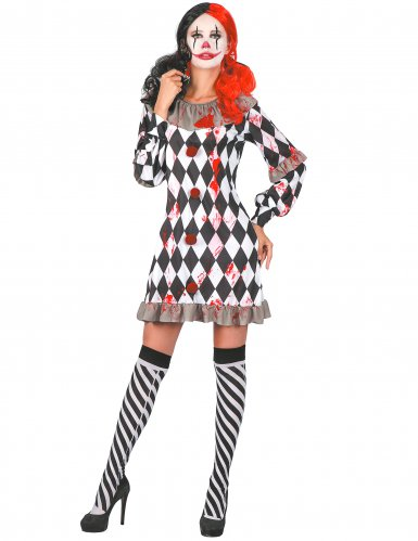 Bebloede clown outfit voor dames
